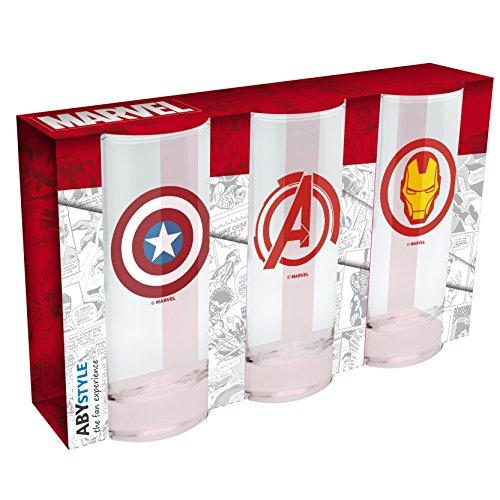 ABYstyle Abysse Corp_ABYVER071 Marvel- 3-teiliges Gläser-Set
